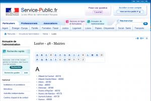 Liste du Service-Public.fr